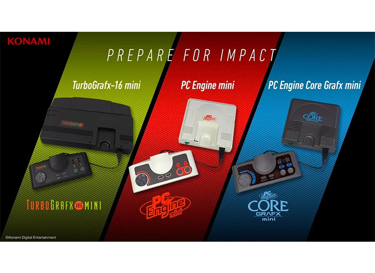 Konami ชุบชีวิตคอนโซล 90's PC Engine/TurboGrafx-16 Mini/PC